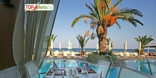 През ЮЛИ, АВГУСТ и СЕПТЕМВРИ на почивка в Паралия Катерини, първа линия на плажа - 5 нощувки  със закуски, комфортен транспорт и екскурзовод на ТОП цена!