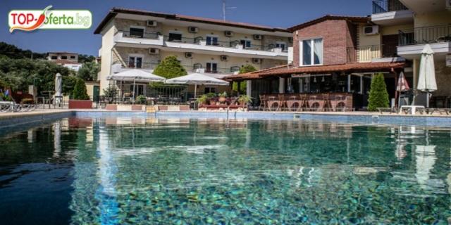 LAST MINUTE  в Ilios Hotel 3*, Криопиги, Касандра, Халкидики! Нощувка със закуска и вечеря + Басейн!