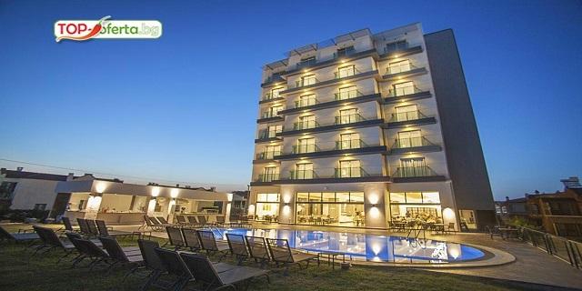 Ранни записвания Турция 2020! 7 нощувки на база All Inclusive в MUSHO HOTEL 4*,Айвалък, Турция! Собствен пясъчен плаж + Безплатно за дете до 11.99!