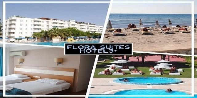 Турция 2019! Нощувка на база All Inclusive в хотел FLORA SUITES 3*, Кушадасъ! +басейн и пързалки+ собствен плаж и транспорт до него + чадъри и шезлонги на плажа + детска анимация!