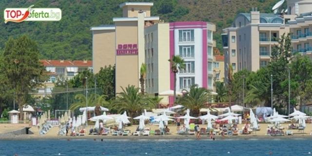 На брега на морето в Турция! 5 или 7 нощувки на база SUPERIOR All Inclusive в DORA BEACH MARMARIS HOTEL 4*, Мармарис + външен басейн + паркинг!