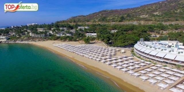 РАННИ ЗАПИСВАНИЯ на брега на морето в BOMO  TOSCA BEACH KAVALA 4*+, Кавала, Гърция! 5 нощувки ULTRA ALL  INCLUSIVE + Анимация + чадъри и шезлонги на плажа!!