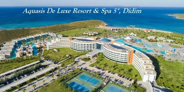 Ранни записвания Турция 2020! 5/7 нощувки на база Ultra All Inclusive в Aquasis De Luxe Resort & SPA 5*, Дидим, Турция! + Вътрешен и външни басейни + Аквапарк + Анимация!