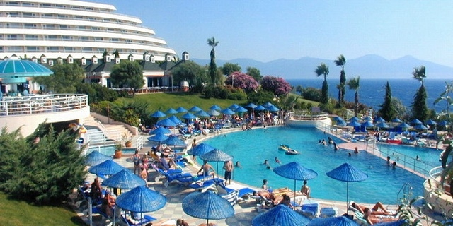 Ранни записвания Турция 2020! 7 нощувки на база All Inclusive в Хотел Grand Blue Sky 4+*, Кушадасъ! Анимация+ На брега на морето!