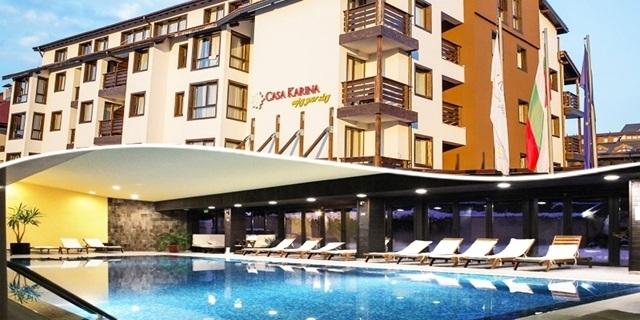 Почивка до края на ЮНИ в Хотел Casa Karina (Каза Карина) 4*, Банско! Нощувка със закуска или All Inclusive на човек + БАСЕЙН + СПА ПАКЕТ на ТОП цена!