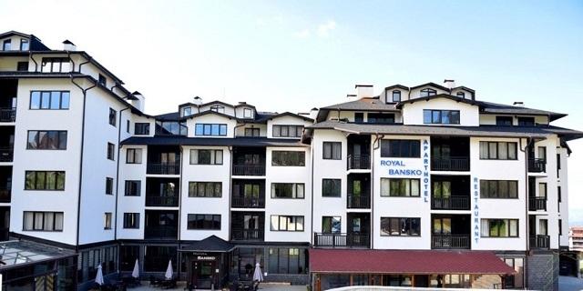 Ски и СПА  в Royal Bansko Apartments 3* / Апарт хотел Роял,  Банско! Нощувка на база All Inclusive Light + Басейн + Спа + дете до 11.99 БЕЗПЛАТНО!